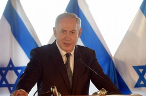 Prime Minister Benjamin Netanyahu holding a Press Conference in Rome, Italy. Photo: Amos Ben Gershom GPO