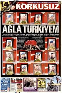 Korkusuz Gazetesi 1. Sayfası 19.12.2016