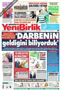 Yeni Birlik Gazetesi 1. Sayfası 03.06.2017