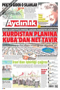 Aydınlık Gazetesi 1. Sayfası 03.06.2017