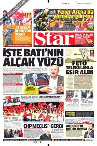 Star Gazetesi 1. Sayfası 24.04.2017