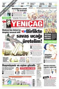 Yeni Çağ Gazetesi 1. Sayfası 04.06.2017