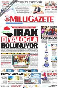 Milli Gazete Gazetesi 1. Sayfası 03.05.2017