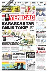Yeni Çağ Gazetesi 1. Sayfası 26.04.2017