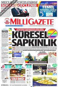 Milli Gazete Gazetesi 1. Sayfası 22.06.2017