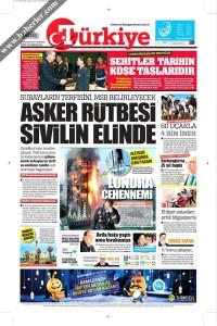 Türkiye Gazetesi 1. Sayfası 15.06.2017