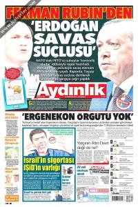 Aydınlık Gazetesi 1. Sayfası 22.06.2017
