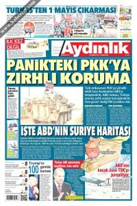 Aydınlık Gazetesi 1. Sayfası 29.04.2017