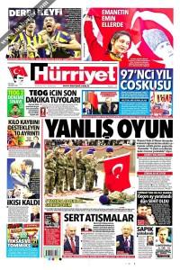 Hürriyet Gazetesi 1. Sayfası 24.04.2017