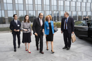 Formal Accession Talks with the Minister of Defence of the former Yugoslav Republic of Macedonia, Radmila Sekerinska-Jankovska and NATO Assistant Secretary General for Political Affairs and Security Policy, Alejandro Alvargonzalez