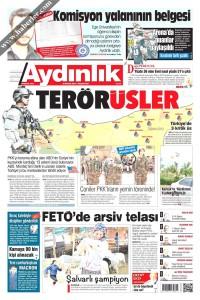 Aydınlık Gazetesi 1. Sayfası 08.05.2017