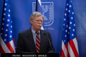 Israeli prime minister Benjamin Netanyahu (not seen) holds a joint press conference with National Security Advisor of the United States John Bolton, at PM Netanyahu's office in Jerusalem. August 20, 2018. Photo by Ohad Zweigenberg/POOL***POOL PICTURE EDITORIAL USE ONLY/NO SALES*** *** Local Caption *** ??? ?????? ?????? ?????? ???? ????? ??? ?????? ?? ????? ?????? ????? ?? ????? ????? ??? ??????